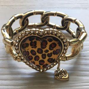 Leopard Heart Bracelet by Betsey Johnson